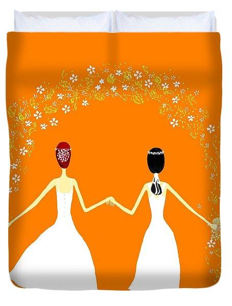 Brides Duvet Cover by Barbara Moignard