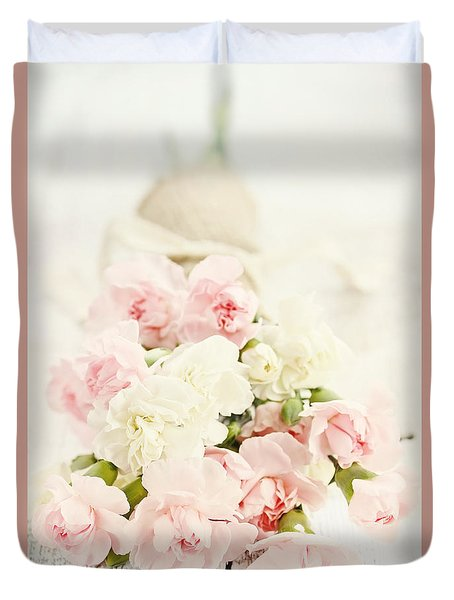 Brides Bouquet Duvet Cover