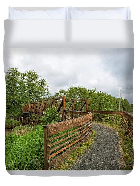 Bridge Along Lewis And Clark Hiking Trail  Duvet Cover