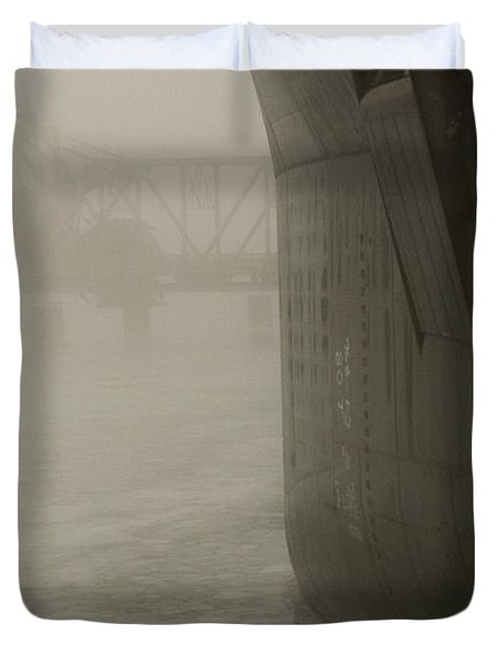 Bridge And Barge Duvet Cover