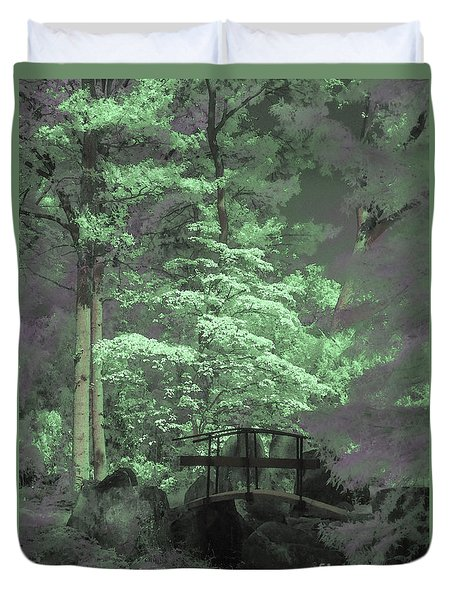 Bridge At Clark Gardens Duvet Cover