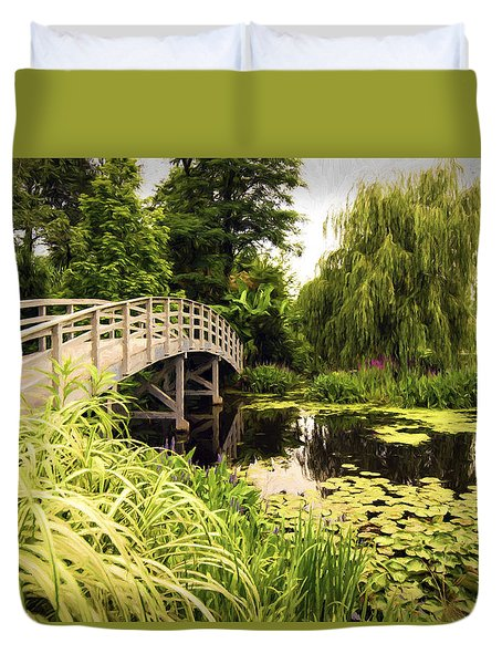 Duvet Cover featuring the photograph Bridge At Petersburg by Anthony Baatz