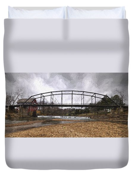 Bridge At The Mill Duvet Cover