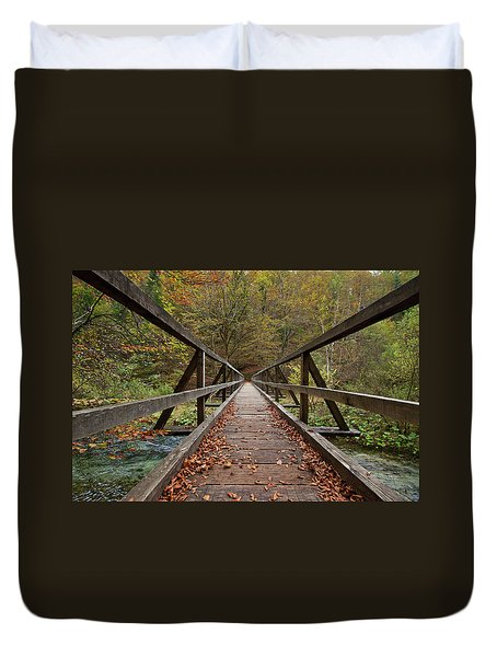 Duvet Cover featuring the photograph Bridge by Davor Zerjav