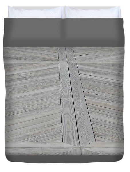 Bridge Floor Duvet Cover by Linda Geiger