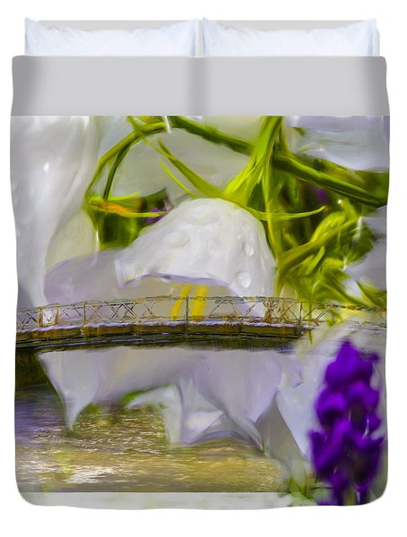 Duvet Cover featuring the photograph Bridge Flower.  by Leif Sohlman