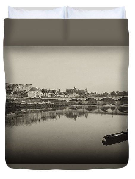 Bridge From Ile D'ors Duvet Cover by Hugh Smith
