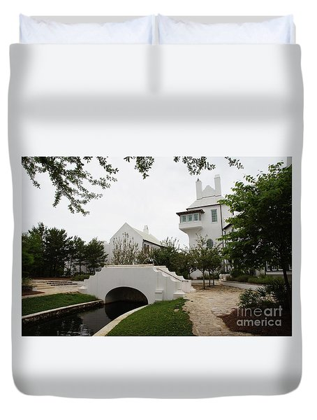 Bridge In Alys Beach Duvet Cover