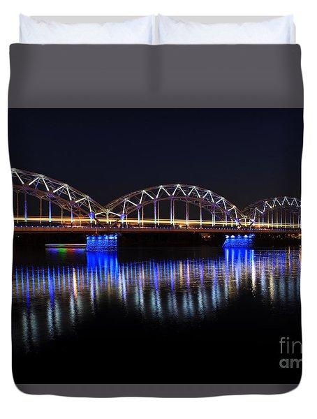 Bridge In Riga  Duvet Cover