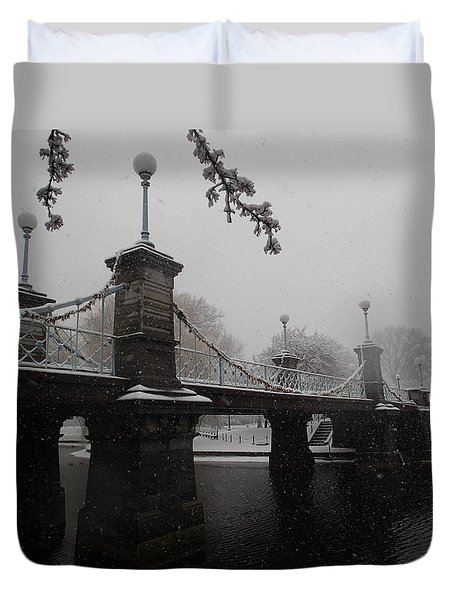 Bridge In Suspension 1867 Duvet Cover