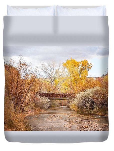 Bridge In Teasdale Duvet Cover