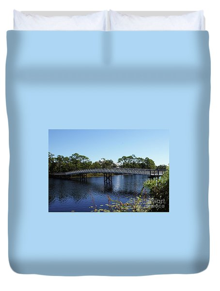 Western Lake Bridge Duvet Cover