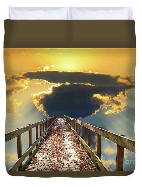Bridge Into Sunset Duvet Cover