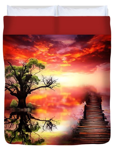 Bridge Into The Unknown Duvet Cover