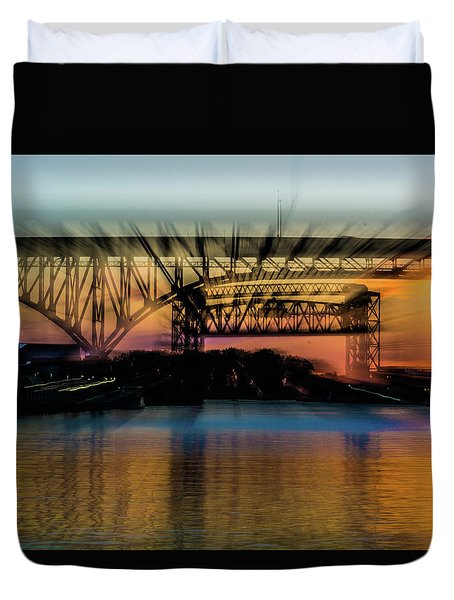 Bridge Motion Duvet Cover