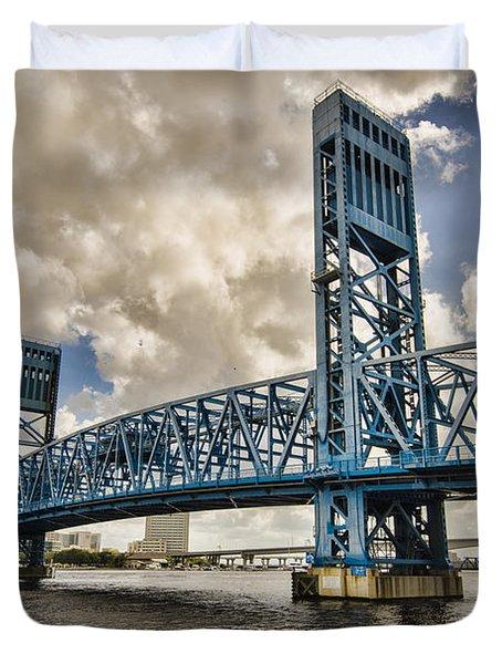 Bridge Of Blues Duvet Cover