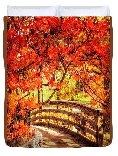 Bridge Of Fall Duvet Cover