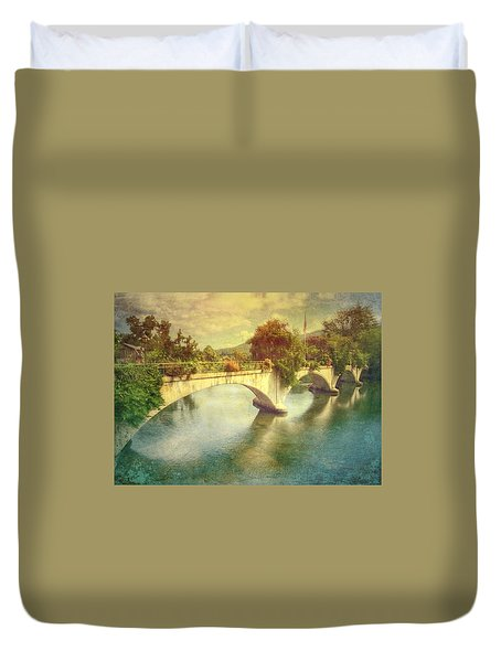 Bridge Of Flowers  Duvet Cover by Betty  Pauwels