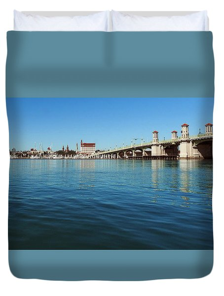 Bridge Of Lions, St. Augustine Duvet Cover by Rod Seel