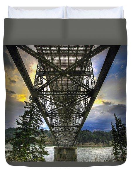Bridge Of The Gods Duvet Cover