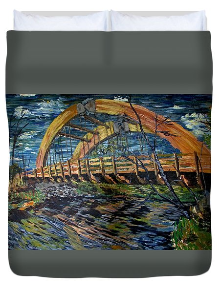 Bridge On County Rd. 27 Duvet Cover