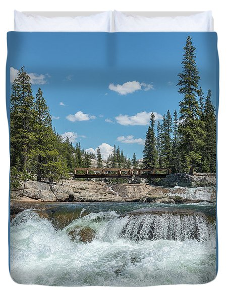 Bridge On The Pct Duvet Cover