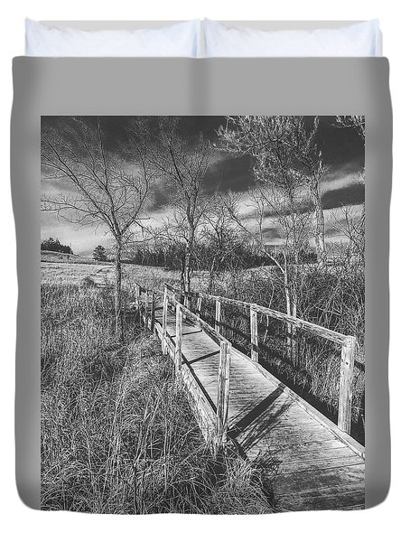 Bridge On The Prairie Duvet Cover