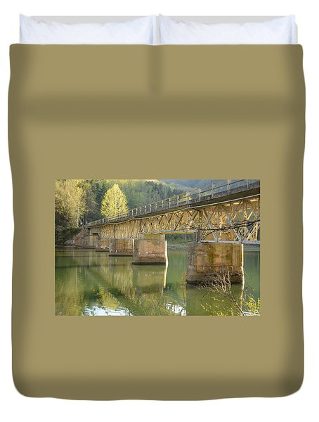 Bridge Over Calm Water Duvet Cover