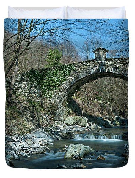Bridge Over Peaceful Waters - Il Ponte Sul Ciae' Duvet Cover