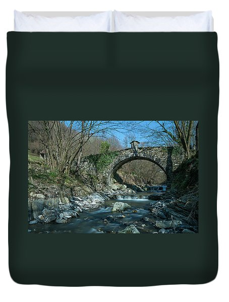 Bridge Over Peaceful Waters - Il Ponte Sul Ciae' Duvet Cover