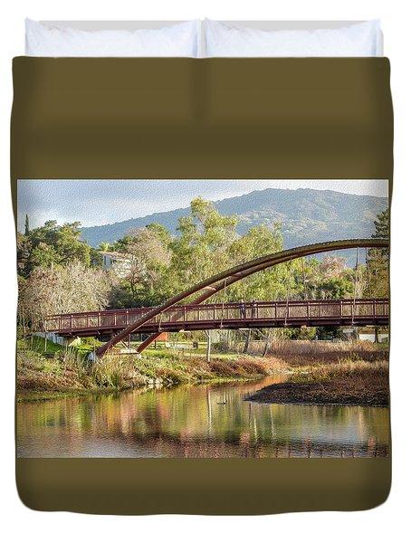 Bridge Over The Creek Duvet Cover
