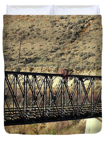 Bridge Over The Thompson Duvet Cover