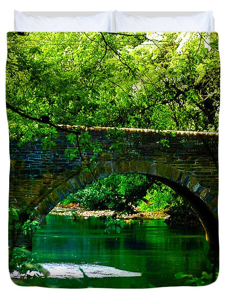 Bridge Over The Wissahickon Duvet Cover by Bill Cannon