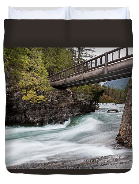 Duvet Cover featuring the photograph Bridge Over Troubled Water by Fran Riley