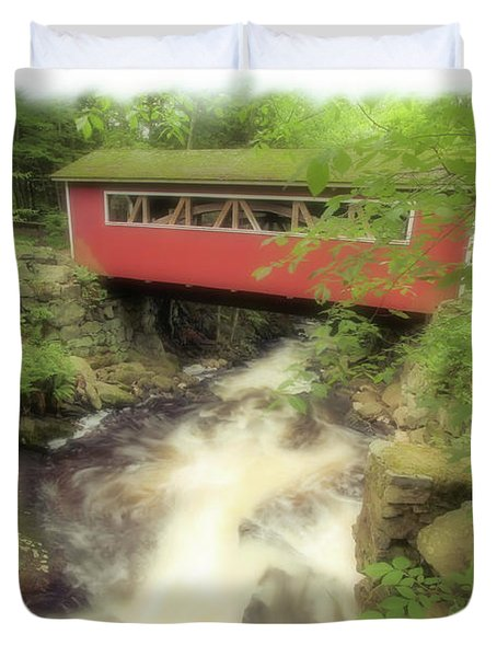 Bridge Over Troubled Water Duvet Cover by Karol Livote