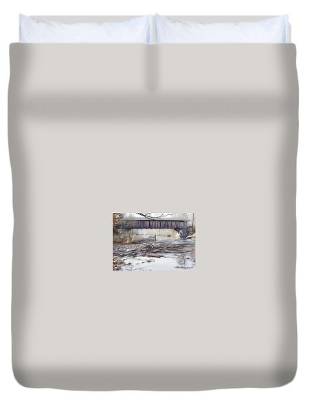 Bridge Over Troubled Waters Duvet Cover by EricaMaxine  Price