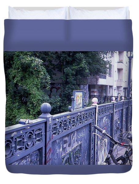 Bridge Railing Duvet Cover