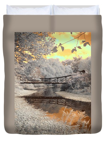 Bridge Reflections Duvet Cover by Jane Linders