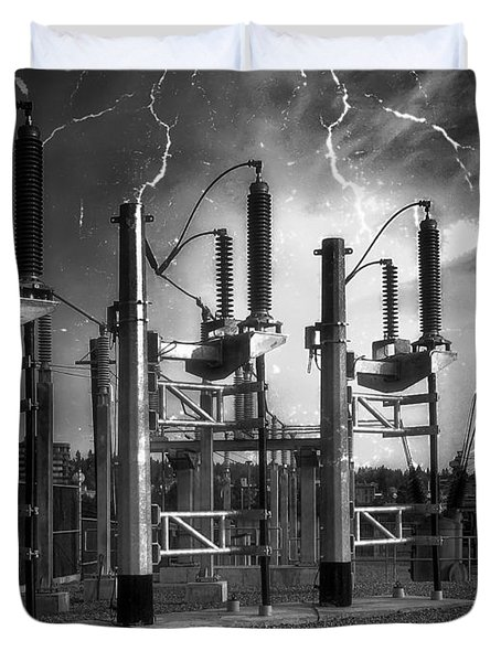 Bridge St Power Substation 2 - Spokane Washington Duvet Cover by Daniel Hagerman