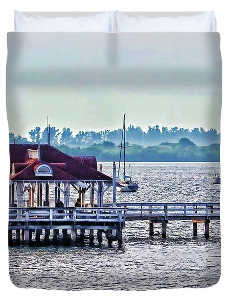 Bridge Street Pier Duvet Cover