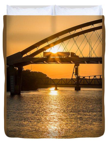 Bridge Sunrise 2 Duvet Cover