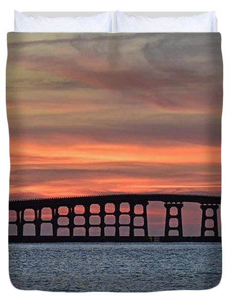 Bridge To Hatteras Duvet Cover