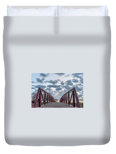 Bridge To The Clouds Duvet Cover