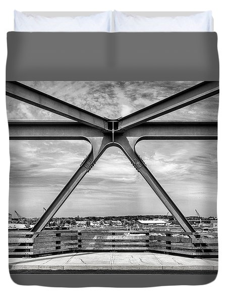Bridge View In Portsmouth Nh Duvet Cover