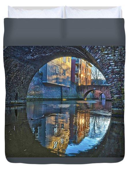 Bridges Across Binnendieze In Den Bosch Duvet Cover