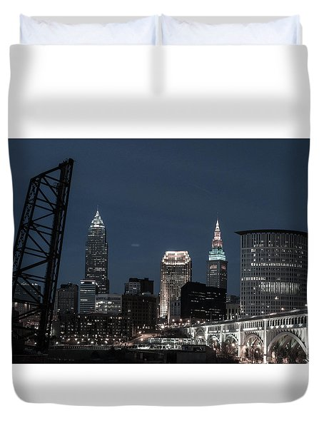 Bridges And Buildings Duvet Cover