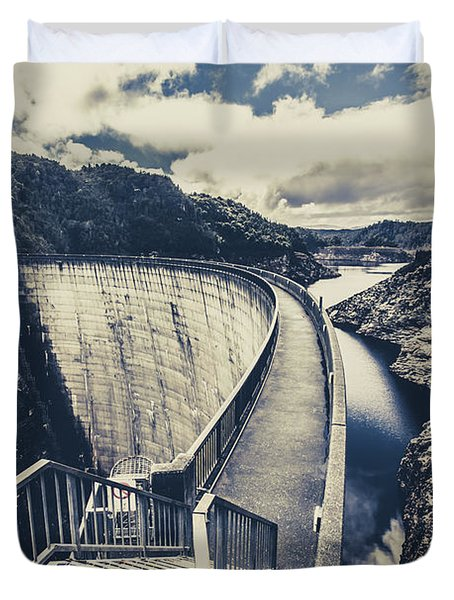 Bridges And Outback Dams Duvet Cover