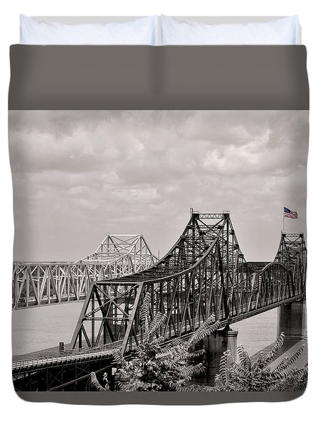 Bridges At Vicksburg Mississippi Duvet Cover by Don Spenner
