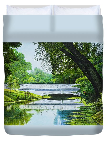 Bridges Of Forest Park IIi Duvet Cover