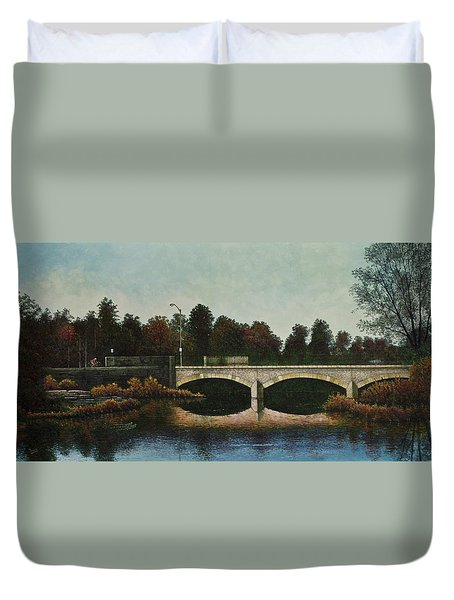 Bridges Of Forest Park Iv Duvet Cover